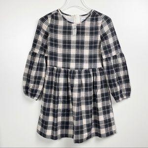 Girls GAP black & white plaid dress